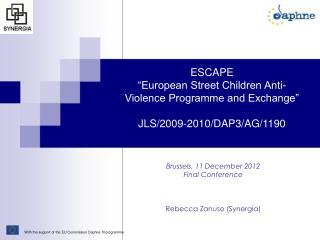 "ESCAPE ""European Street Children Anti-Violence Programme and Exchange"" JLS/2009-2010/DAP3/AG/1190"