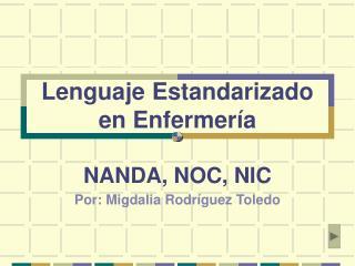 Lenguaje Estandarizado en Enfermería