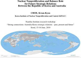 Nuclear Nonproliferation and Balance Role