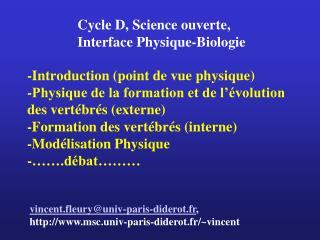 vincent.fleury@univ-paris-diderot.fr ,  msc.univ-paris-diderot.fr/~vincent