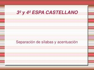 3º y 4º ESPA CASTELLANO