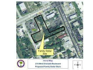 Aerial Map 274 West Granada Boulevard Proposed Family Dollar Store