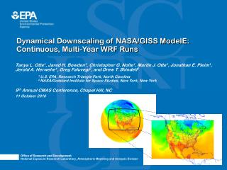Dynamical Downscaling of NASA