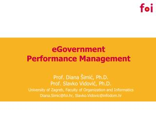 eGovernment  Performance Management