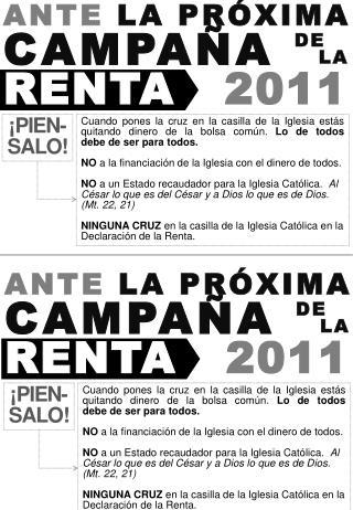 ANTE  LA PRÓXIMA CAMPAÑA RENTA 2011