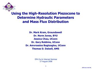Using the High-Resolution Piezocone to Determine Hydraulic Parameters and Mass Flux Distribution