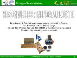 Dipartimento di Elettronica per l'Automazione, Università di Brescia,