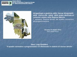 Regione Marche Servizio Infrastrutture, Trasporti ed Energia
