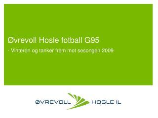 Øvrevoll Hosle fotball G95 - Vinteren og tanker frem mot sesongen 2009