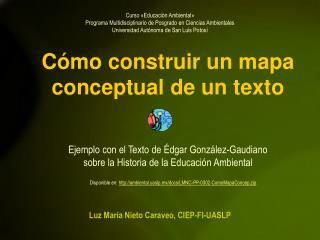 Cómo construir un mapa conceptual de un texto