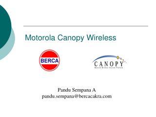 Motorola Canopy Wireless
