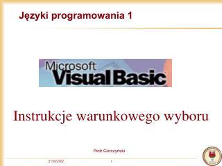 Języki programowania 1