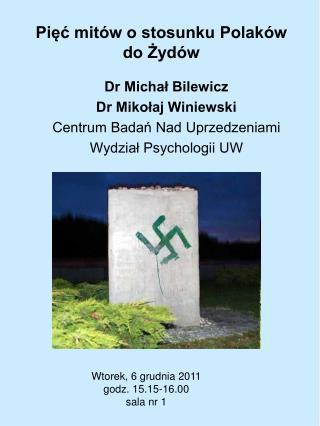 Pięć mitów o stosunku Polaków do Żydów