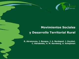Movimientos Sociales  y Desarrollo Territorial Rural