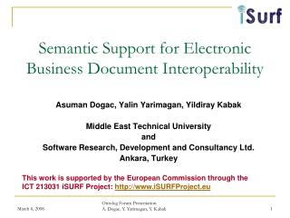 Semantic Support for Electronic Business Document Interoperability