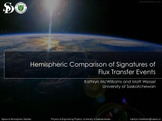 Hemispheric Comparison of Signatures of  Flux Transfer Events