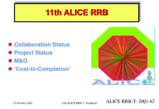 11th ALICE RRB