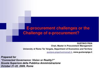 "Prepared for  ""Connected Governance: Vision or Reality?"""