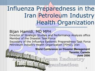 Influenza Preparedness in the Iran Petroleum Industry Health Organization