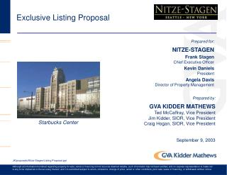 Exclusive Listing Proposal