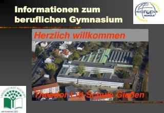 Informationen zum  beruflichen Gymnasium