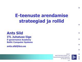 E-teenuste arendamise strateegiad ja rollid