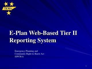 E-Plan Web-Based Tier II Reporting System