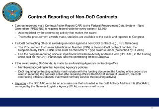 Contract Reporting of Non-DoD Contracts
