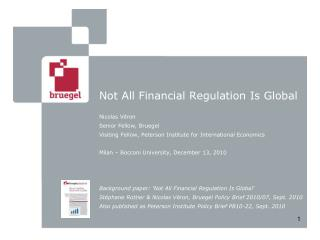 Not All Financial Regulation Is Global