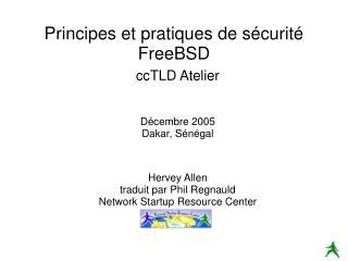 Principes et pratiques de s curit  FreeBSD