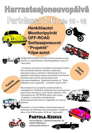 Karhumäentie 1 (Naistenmatkantie 76) 33950 PIRKKALA partola-keskus.fi