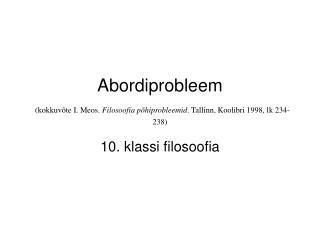 10. klassi filosoofia