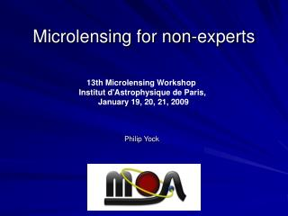 Microlensing for non-experts
