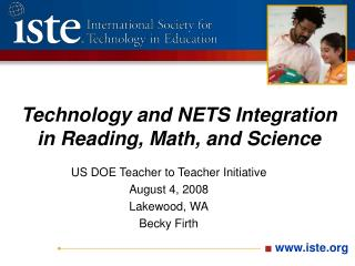 Technology and NETS Integration in Reading, Math, and Science