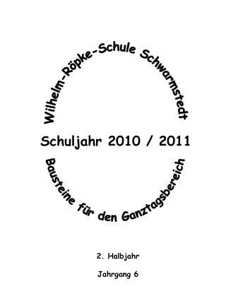 Schuljahr 2010 / 2011