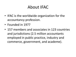 About IFAC