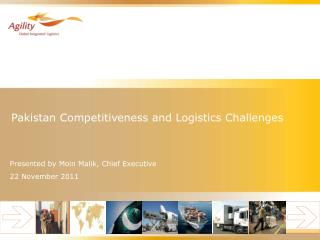 Pakistan Competitiveness and Logistics Challenges
