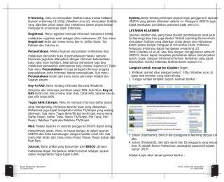 E-learning , menu ini merupakan fasilitas untuk masuk kedalam
