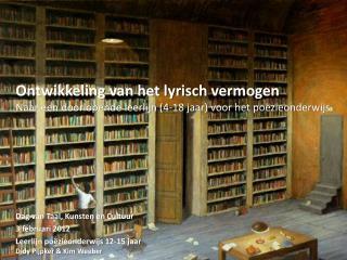 Dag van Taal, Kunsten en Cultuur 3 februari 2012