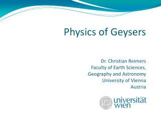Physics of Geysers