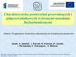 Zespół:  A.  Jab ł o ń ski  , J. Sobczak, M. Krawczyk, W. Lisowski,