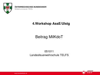 4.Workshop AssE/Ulstg