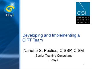Developing and Implementing a CIRT Team
