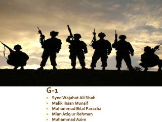 G-1 Syed  Wajahat  Ali Shah Malik Ihsan Munsif Muhammad  Bilal Paracha Mian Atiq ur Rehman
