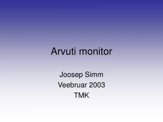 Arvuti monitor