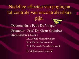 Nadelige effecten van pogingen tot controle van oncontroleerbare pijn.