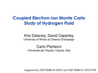 Coupled Electron-Ion Monte Carlo Study of Hydrogen Fluid