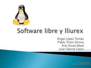 Software libre y  lliurex