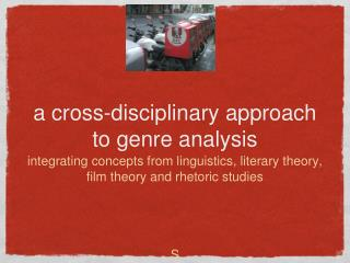 a cross-disciplinary approach to genre analysis
