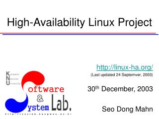 High-Availability Linux Project